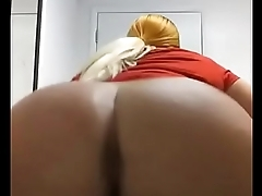 Fine ass Tranny craving my dick while at work