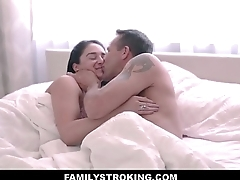 Cute Latina Teen Step Daughter Esperanza Del Horno Loves Her White Step Dad Big Cock