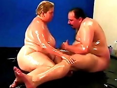 bbw oil wrestling and fucking