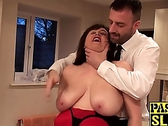 Cute English submissive dominated and roughly rammed
