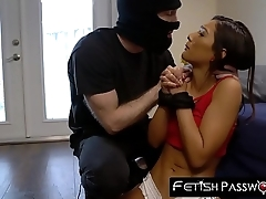 Teenage Jaye Summers throat and pussy ravaged by cock