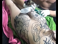 Asian full body tattoo in Vietnam