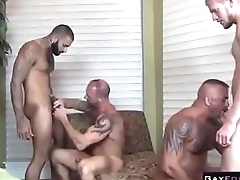 Gay Muscle Orgy Anal Fingering