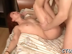 Passionate sex makes bawdy sweetheart reach lots of wild orgasms