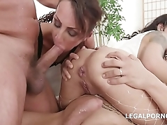 Lyna Cypher &amp_ Holly Hendrix Anal Battle with Balls Deep Anal, DAP, Squirting and Anal Fisting