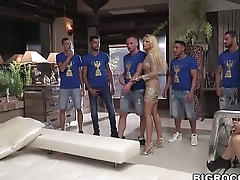 Huge anal orgy at Rocco'_s Hard Academy
