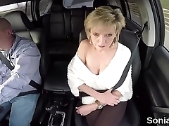 Unfaithful british milf lady sonia shows her giant tits