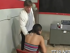 Sweetheart gives a sexy blowjob and gets nailed hardcore style