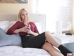 My hot blonde MILF stepmother seduced and fucked me