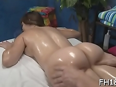 Hot honey sucking off deep her massage therapist