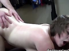 Sara Rose gets her thick body pounded by her boyfriend'_s giant white cock