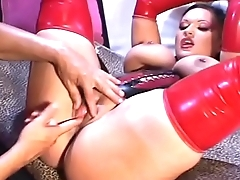Black guy fingers and eats out the mistress