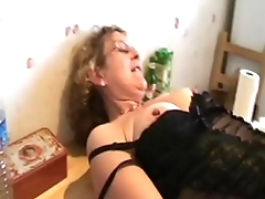 Francoise takes a black cock in the ass