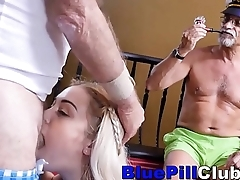 Hot Teenager Has Gangbang Sex With Old Guys