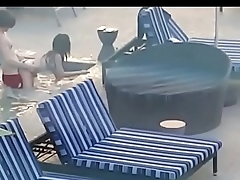 voyeur video - my stepsister fucked by public swimming pool