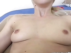 Hungarian blonde rides a big dick - Nesty and Matt Bird