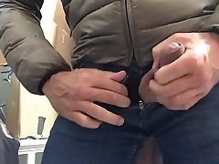 Horny at work jerking