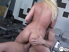 Ahryan Astyn Has Her Pussy Worked Out At The Gym