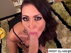 FirstClassPOV - Jessica Jaymes sucking a monster cock, big tits &amp_ big booty