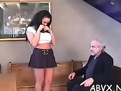 Needy booty babe spanked and roughly stimulated in bondage scenes