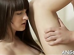Dudes divine dong gets a lusty riding from stunning hotty