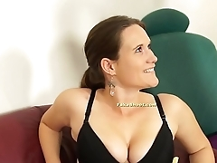 Breasty bitch tricked into fucking on casting