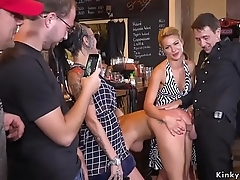 Hot ass Serbian slave pissed in public
