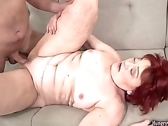 Redhead granny loves to fuck and lick ass