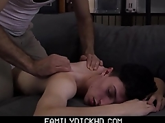 Twink Step Son And His Step Dad Have Sex During Massage For Sports Injury