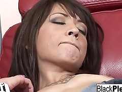 Coco Velvett and Dick James return for more interracial fun