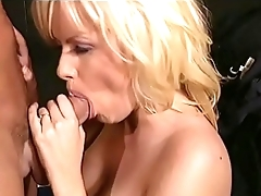 Superb blonde woman Salena Del Rey spreads her long legs and gets her wet pussy drilled