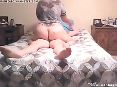 Amateur bbw fucking in the bed