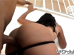 Breathtaking babe with great forms of body screwed in asshole