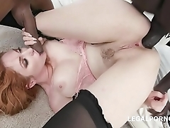 Lauren Phillips gets 2 BBC with Big Gapes and Balls Deep Anal
