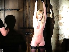 Candee Licious gets throat fucked endures tied up bondage and rough porno sex