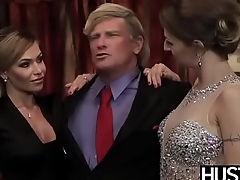 Lascivious Natasha Starr receives president cock in 3way