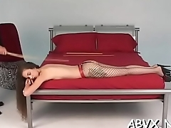 Cutie gets the fine ass spanked in hawt home movie scene