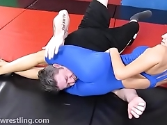 The Playboy Wrestler - Facesitting Smother