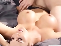 Busty Mom and Stepdaughter Fucking and Kissing