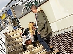 Public blowjob while peeing and outdoor fucking with dulce Chiki